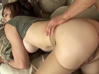 He Tears His Cute Trans Roommate's Pantyhose To Bang Her