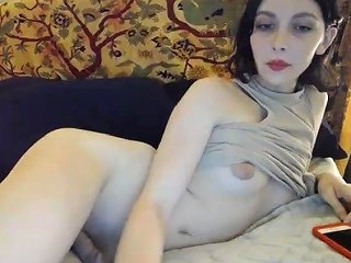 She Is A Super Sweet White Shemale With A Very Little Cock