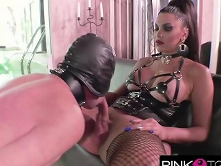 Raphaella Ferrari's Monstrous Cock Comes After The Whipping